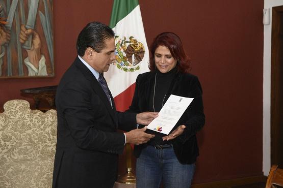 Ratifica Silvano Aureoles a Fabiola Alanís Como Titular de la Secretaría de Igualdad Sustantiva