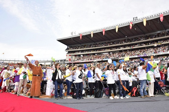 Emoción, Júbilo y Unidad se Vivió en el Estadio Morelos con Visita del Sumo Pontífice