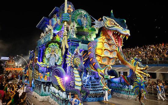 Casa Verde Samba en el Carnaval de Sao Paulo