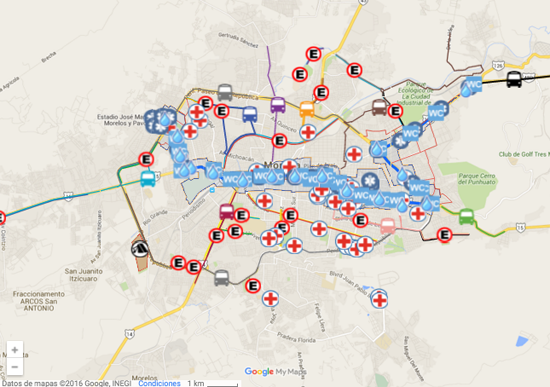 mapa ruta papa