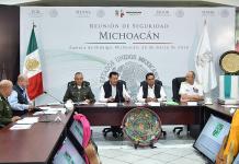 Silvano Aureoles, Miguel Osorio Reunión de Seguridad Michoacán