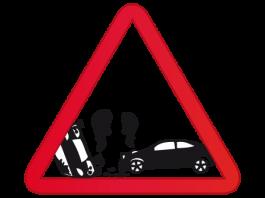 choque volcadura accidente auto coche vehículo