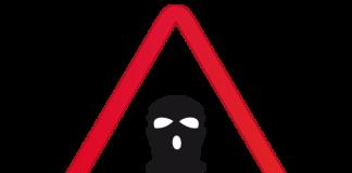encapuchado ladrón rostro
