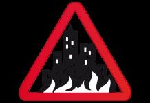 fuego incendio ciudad industrial