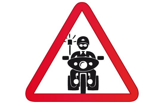 policía moto