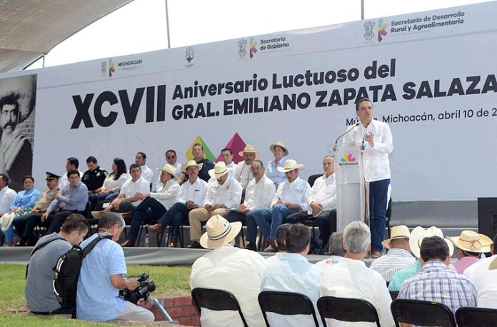 Aniversario-Emiliano-Zapata-Silvano-Aureoles