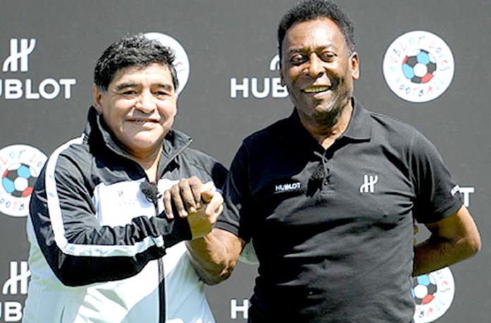 Diego-Maradona-Pelé