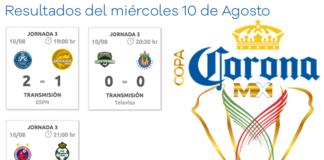 Partidos-Copa-MX-miércoles-10-de-aogsto